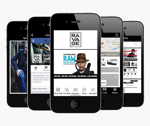 Ravage App voor Winkels