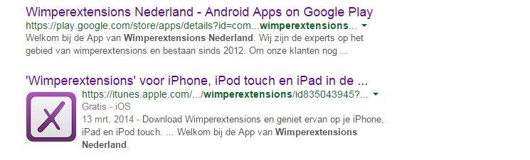 Wimperextions Nederland stylisten app