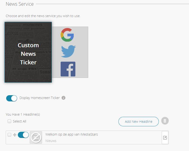 Nieuwsberichten in de app