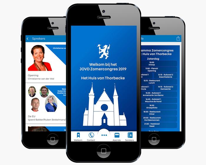 jovd congres evenementen app
