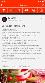 social wall plaats berichten in de app
